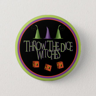Throw The Dice Witches Button