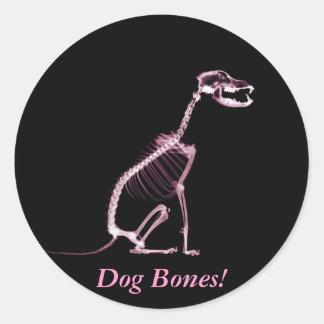 Throw The Dog A Bone! - Peel & Stick Stickers Round Sticker