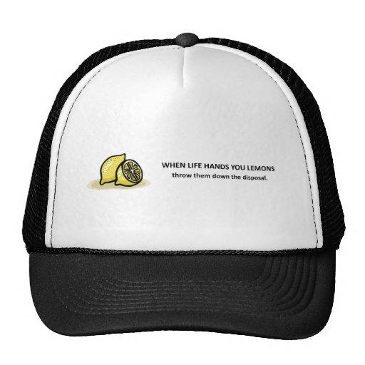 throw-them-down-the-disposal trucker hat