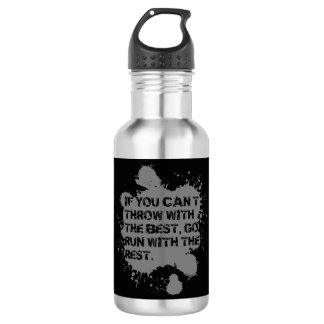 Throw With The Best- Shot Put Discus Thrower Gift 532 Ml Water Bottle