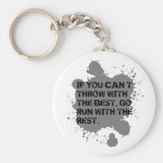 Throw with the Best. ShotPut Discus Throw Keychain