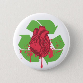 Throw your Heart 6 Cm Round Badge