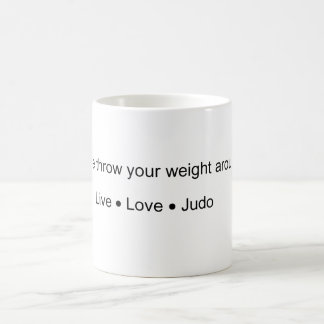 Throw your Weight Basic White Mug