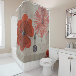 Throwback 30s Posey Print Shower Curtain