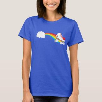 Throwback Roller Skate on Rainbow T-Shirt