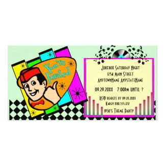 Throwback Theme Party Invitation Customised Photo Card