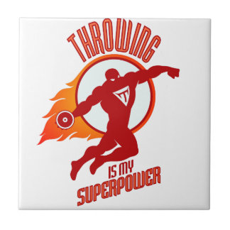 throwing discus is my superpower tile