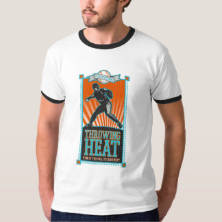 Throwing Heat Baseball T-shirts