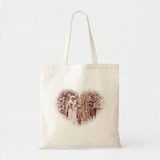 """Throwing Rice""  Vintage GI and Bride Budget Tote Bag"