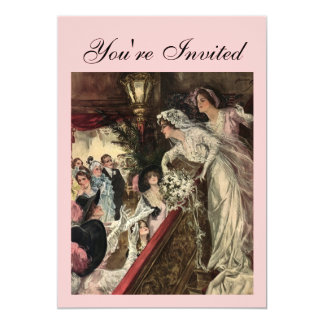 Throwing the Bouquet 13 Cm X 18 Cm Invitation Card