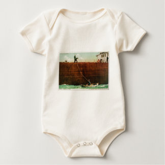 Throwing the Line Baby Bodysuit