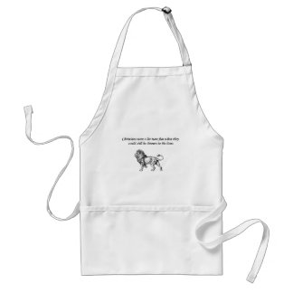 thrown to the lions standard apron