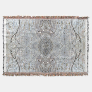 Thru The Silver White Sun by Deprise Throw Blanket