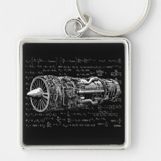 Thrust matters! Silver-Colored square key ring