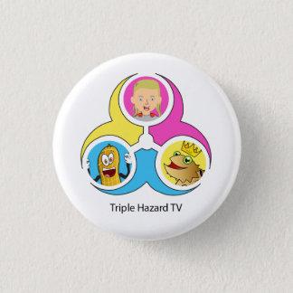 THTV Logo Bagde Small 3 Cm Round Badge