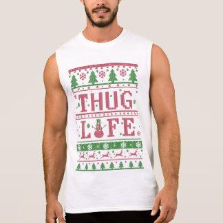 Thug Life Ugly Christmas Sleeveless Shirt