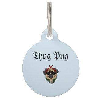 Thug Pug Pet ID Tag