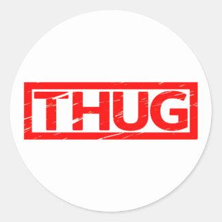 Thug Stamp Classic Round Sticker