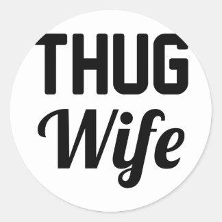 Thug Wife Classic Round Sticker
