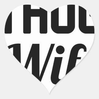 Thug Wife Heart Sticker