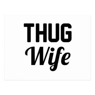 Thug Wife Postcard