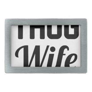 Thug Wife Rectangular Belt Buckle