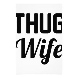 Thug Wife Stationery