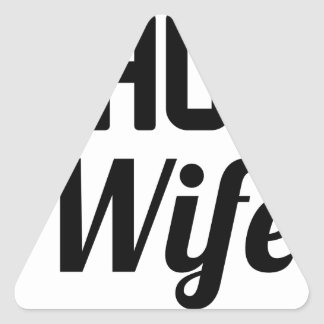 Thug Wife Triangle Sticker