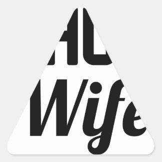 Thug Wife Triangle Sticker
