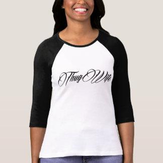 THUG WIFE Women's Ragland T Shirts