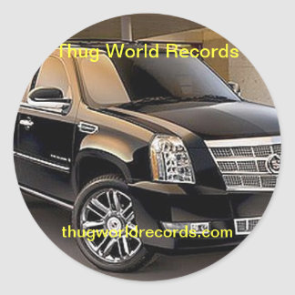 thug world records Cadillac sticker