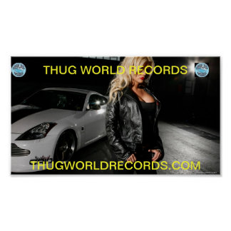 thug world records POSTER GIRL IN HOT BLACK
