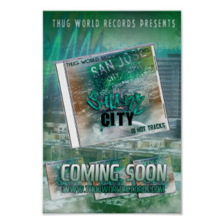 thug world records shark city flyer posters