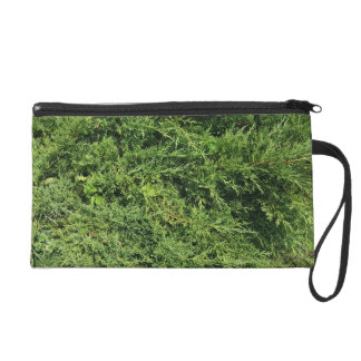 Thuja tree photo background wristlet clutch