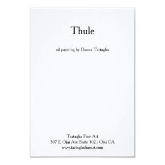 "Thule - card 3.5"" x 5"", white envelopes included 9 cm x 13 cm invitation card"