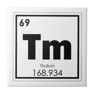 Thulium chemical element symbol chemistry formula tile
