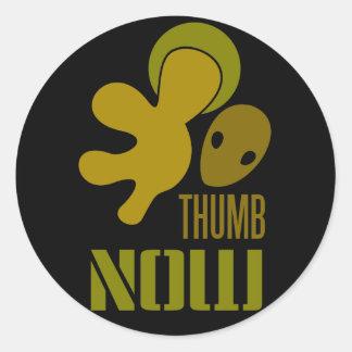 thumb now classic round sticker