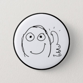 Thumb up Comic Meme. 6 Cm Round Badge