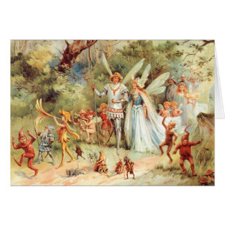 Thumbelina's Wedding in the Forest Card
