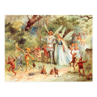 Thumbelina's Wedding in the Forest Postcard