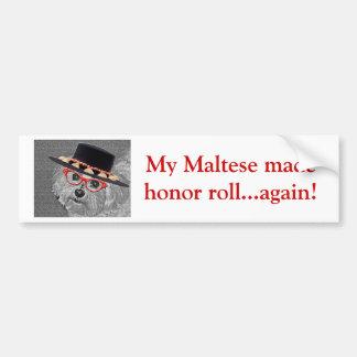Thumbellina is my name I'm a beautiful maltese Bumper Sticker