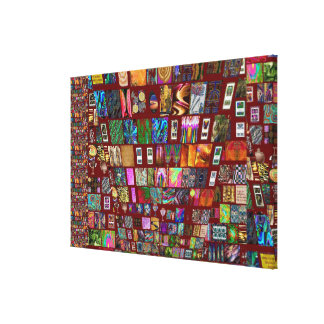 ThumbNAIL Collage -  Artistic Vintage Collection Stretched Canvas Prints