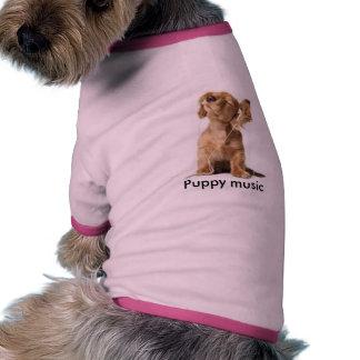 thumbnail Puppy music Pet Tshirt