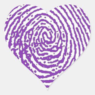 thumbprint FINGERPRINT Heart Sticker