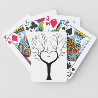 Thumbprint Tree Bicycle Playing Cards