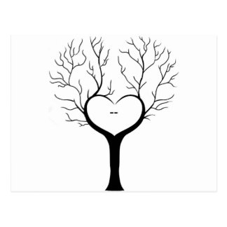 Thumbprint Tree Postcard