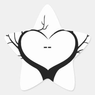 Thumbprint Tree Star Sticker