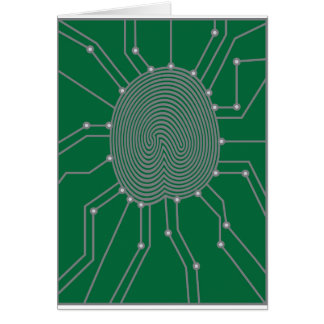 Thumbprint with Circuit Board Illustration Card