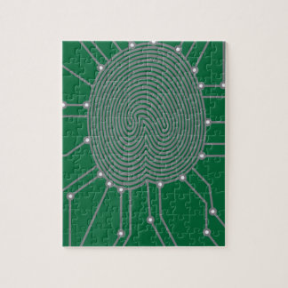 Thumbprint with Circuit Board Illustration Jigsaw Puzzle