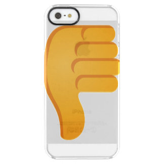 Thumbs Down Emoji Clear iPhone SE/5/5s Case